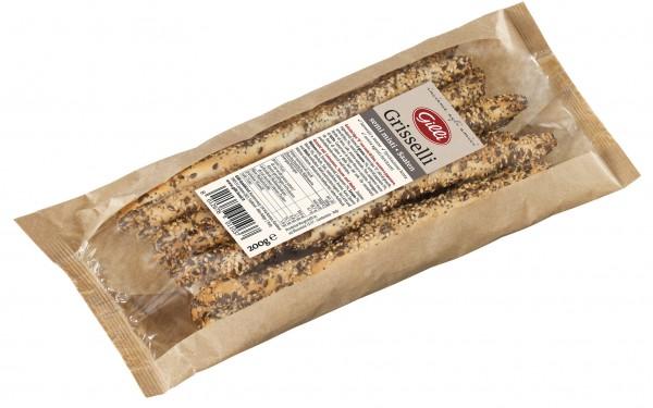 Grisselli artigianali semi misti, 200 g - Gilli