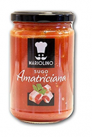 Amatriciana, Tomatensauce mit Tomaten und Speck, 314 ml - Mariolino