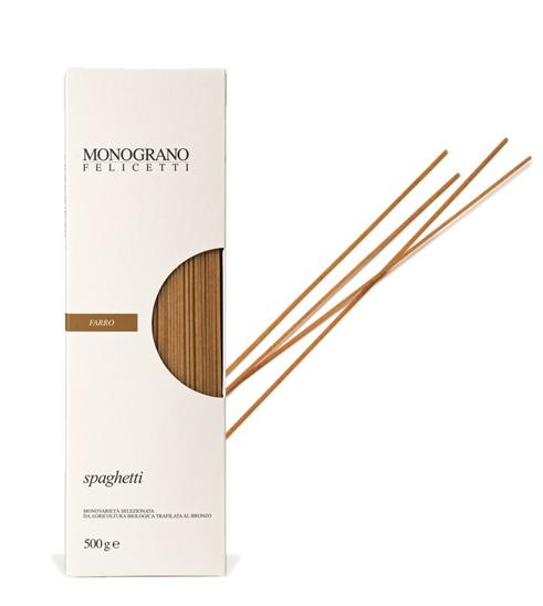 Monograno Felicetti Dinkel Spaghetti Farro - Nudeln aus Dinkelmehl, 500g