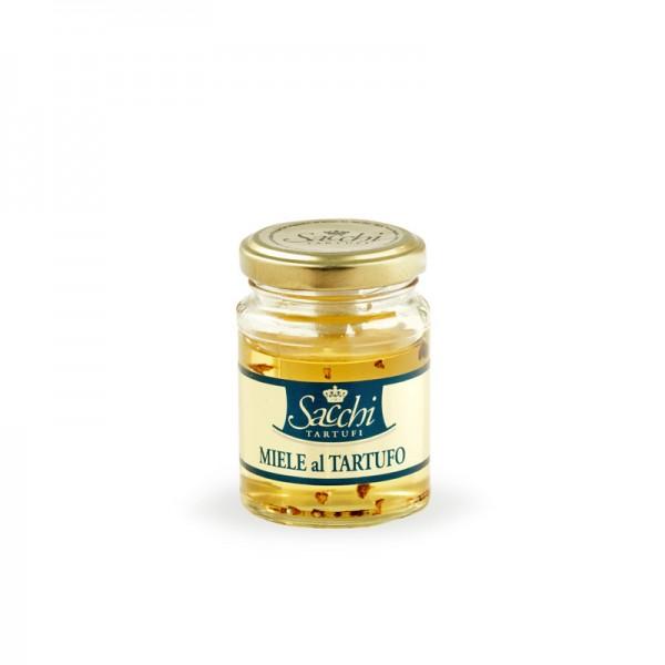 """Miele di acacia con pezzi di tartufo """"bianchetto"""" bianco, 100g MHD 30/04/2109"""