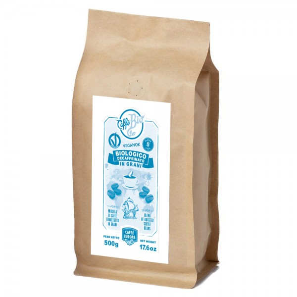 Caffè Bio decaffeinato in grani, 100%, 500 g - Caffè Europa