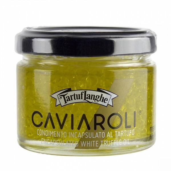 Tartuflanghe Perlen aus nativem Olivenöl, veredelt mit weißem Trüffel, 50g