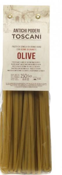 Fettuccine mit Oliven, Nudelspezialität aus Italien, 250g - Antichi poderi Toscani