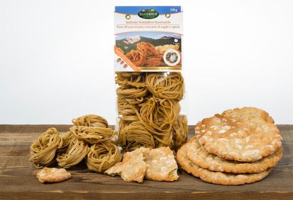 Fettucine dell´Alto Adige al pane croccante di segale e spezia, 330g - Eggerhof