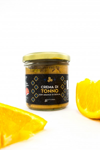 Thunfischcreme mit sizilianischen Orangen, Glas, 130 g - Komoosee