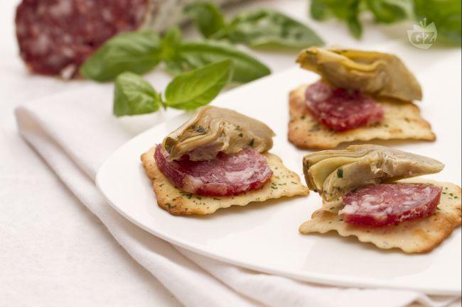 Salami-Pikkant-mit-Artischocken