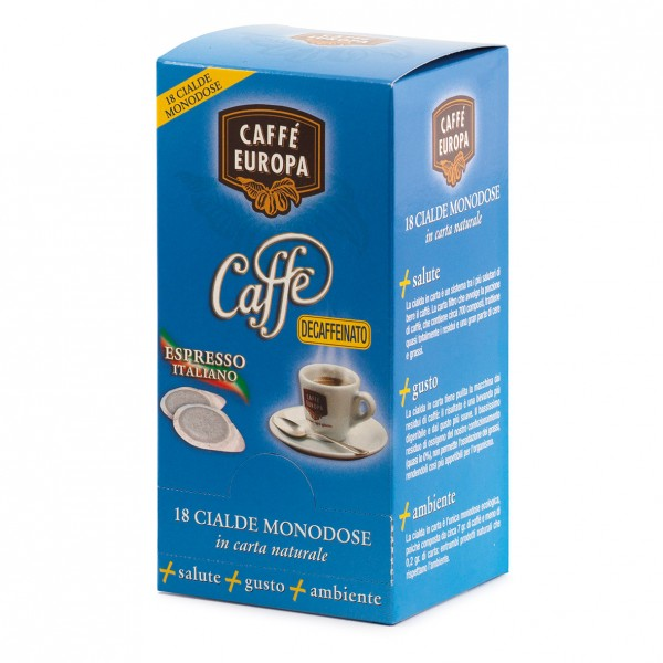Koffeinfrei 100% Arabica, Kaffeepad, Ø 44mm, 18Stk. - Caffè Europa