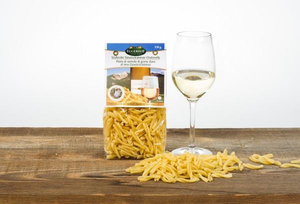 Eggerhof Weisswein Ondonelle aus Südtirol - Hartweizennudeln mit Gewürztraminer Geschmack, 330g