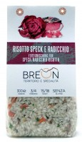 Risotto speck e radicchio, preparato pronto, 300 g - Breon