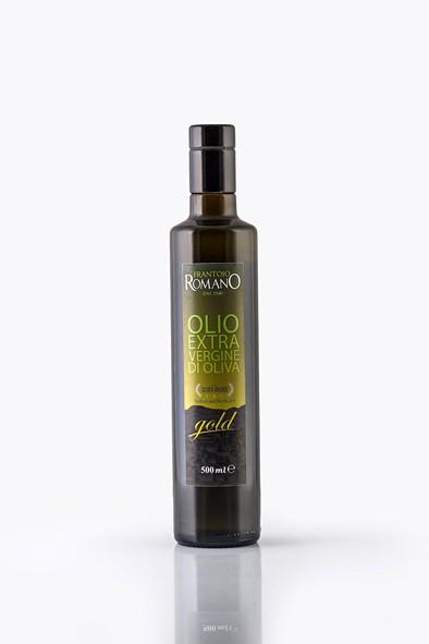 Gold Olio extra vergine d'oliva 0.5 L - Frantoio Romano