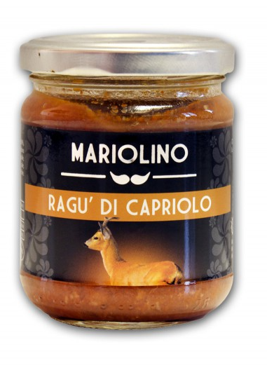 Mariolino Sughi Rehragout - Sauce mit Rehfleisch und Tomaten, 212 ml