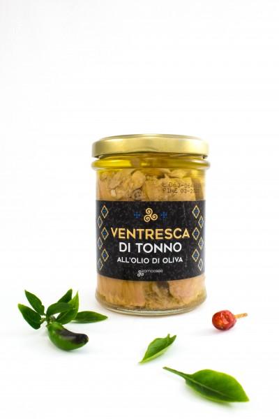 Ventresca di tonno all'olio di oliva, vasetto, 200 g - Komoosee